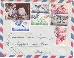 Congo Belge - Lettre De 1961 ° - Oblit Stanleyville - Timbres Belges, Congo Belge Et Ruanda - Jeux Olympiques - 1947-60: Storia Postale