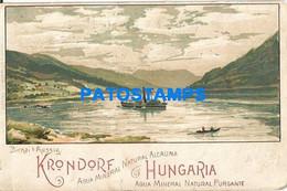 152626 ARGENTINA PUBLICITY KRONDORF AGUA MINERAL NATURAL ALCALINA HUNGARIA NO POSTAL POSTCARD - Pubblicitari