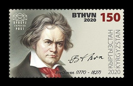 Kyrgyzstan (KEP) 2020 Mih. 155 Music. Composer Ludwig Van Beethoven MNH ** - Kirgisistan