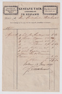 1877  ENAME - GUSTAVE TACK  ZAEKHANDELAAR - RIGA ZAIE LYNZAED KLAVERZAED - EENAME - 1800 – 1899
