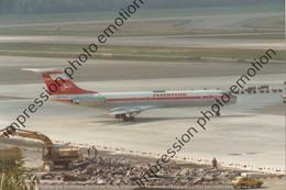 PHOTO  RETIRAGE REPRINT AVION     TUPOLEV 134 INTERFLUG DDR-SCX - Aviazione