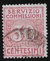 REGNO D'ITALIA -1913 - SERVIZIO COMMISSIONI - Valore Usato Da 30 C, Rosso - In Ottime Condizioni. - Portomarken