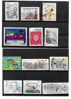 640 TP - FRANCE 2016 - 12 TIMBRES OBLITERES (TIMBRES NON ADHESIFS) - Gebruikt
