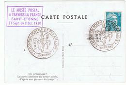 """1950 / """" Le Musée Postal à Travers La France """" / Saint-Etienne / Ballon Monté - Gedenkstempel"""