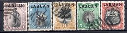 LABUAN - (Colonie Britannique) - 1894 - N° 48 à 56 - (Lot De 9 Valeurs Différentes) - (Victoria) - Noord Borneo (...-1963)