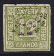 BAYERN - YVERT N° 13 OBLITERE TB ! - COTE = 90 EUR. - SIGNE BRUN - Bavaria