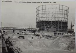 Saint Denis - Avenue Du Président Wilson - Construction De L'autoroute A1 - 1964 - Saint Denis