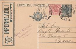 INTERO POSTALE C.15+10 1920 TASSELLO IMPERMEABILI PIRELLI TIMBRO TERAMO (HC469 - Entero Postal