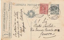 INTERO POSTALE C.15+10 TASSELLO FABBR.ITALIANA CALZATURE -fori Archiviazione-tentativo Riparazione-TIMBRO LOANO (HC464 - Entero Postal