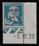 N° 265 CONGRES DU B.I.T. 1930 1 F. 50 BLEU NEUF ** TTB COTE 48 € - Nuevos