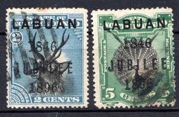 LABUAN - (Colonie Britannique) - 1896 - N° 66 Et 68 - (Lot De 2 Valeurs Différentes) - Noord Borneo (...-1963)