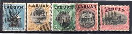 LABUAN - (Colonie Britannique) - 1896 - N° 66 à 70 - (Lot De 5 Valeurs Différentes) - Noord Borneo (...-1963)