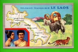 """LES COLONIES FRANÇAISES . """" LE LAOS """" . PUBLICITÉ CIRAGE LION NOIR - Réf. N°11153 - - Geschiedenis"""