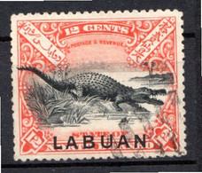 LABUAN - (Colonie Britannique) - 1897-1900 - N° 82 - 12 C. Rouge Et Noir (Type II) - Noord Borneo (...-1963)