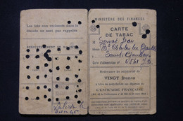FRANCE - Carte De Tabac De La Ville De St Gaudens En 1946 - L 88110 - Collezioni