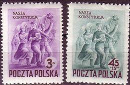 1952 Poland, Mi 760 - 761, Poland Constitution. To Pass A Constitution, MNH** - Ongebruikt