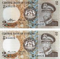 LESOTHO 1981,1984 2 Loti - P.04a,P.04b  Neuf UNC - 2 - Lesotho