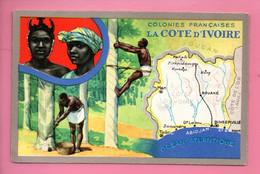 """LES COLONIES FRANÇAISES . """" LA CÔTE D'IVOIRE """" . PUBLICITÉ CIRAGE LION NOIR - Réf. N°11158 - - Geschiedenis"""