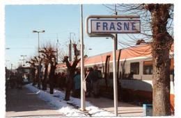 Frasne - Arrivee Du TGV - 2 Décembre 1990   -  Pour Vallorbe - CPSM°r - Sonstige Gemeinden