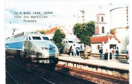 Frasne - Exposition D'une Rame Tricourant Logotype - TGV Ligne De Coeur - 8 Aout 199  - CPSM°r - Sonstige Gemeinden