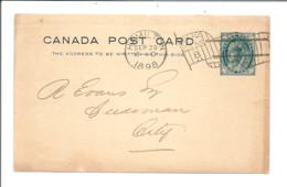 CANADA Post Card HAMILTON 1898 Flag  Chambre De Commerce De Hamilton Réunion 03/10/1898 - Briefe U. Dokumente