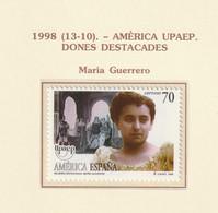 1998, UPAEP 1v ** Mi 3426 - María Guerrero - 1991-00 Ungebraucht