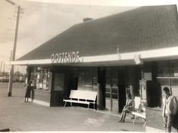 Photo Ancienne Privée Gare D'Ostende Station Oostende 1950 1960 ? Office Du Tourisme ? - Oostende