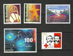 Suisse N°1873, 1874, 2019, 2036, 2099 Neufs** - Unused Stamps