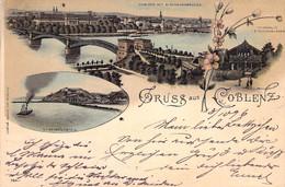 Coblenz Mehrbild Litho 1900 AKS - Koblenz