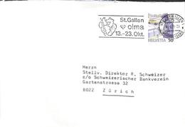 D - [908772]B/TB//-Suisse 1988 - ST.GALLEN 1, Poste & Facteurs - Cartas