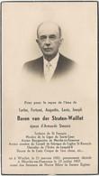 Baron Carlos  Van Der STRATEN  WAILLET  -- - Todesanzeige