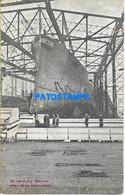 152679 ARGENTINA SHIP EL CASCO DEL MORENO ANTES DE SU LANZAMIENTO DAMAGED POSTAL POSTCARD - Argentinien