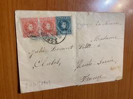 Espagne -lettre De 1909 Paquebot La Navarre Pour La France ( Voire Scan ) - Covers & Documents