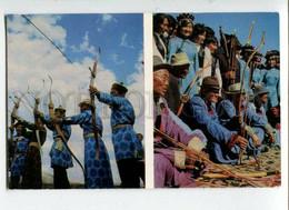 3109066 RUSSIA Buryat Native Bowmen Old Photo Postcard - Europa
