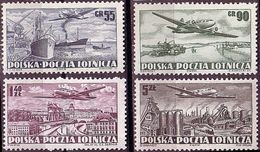 1952 Poland Mi 728A -  731A, IL12 Aircraft, Warsaw, Steelworks, Port, Agriculture, MNH** - Ongebruikt