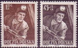 1952, Poland, Mi 783 - 784, Coal Mine, Coal, Mining, Barborka - Miners' Feast, MNH** - Ongebruikt