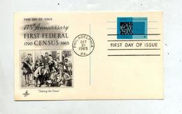 Carte Postale Fdc 1965 4 C Bureau Census - 1961-80