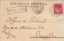 Carte Postale De Bahia Avec Photo Convento Do Carmo Circulée En 1906 De Bahia à Bruxelles - Cartas