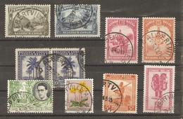 Congo Belge - Petit Lot De 10 Timbres Avec Cachet ALBERTVILLE - Marcophilie - 1923-44: Gebraucht
