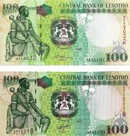 LESOTHO 2006,2007 100 Loti - P.19c,P.19d  Neuf UNC - Lesotho
