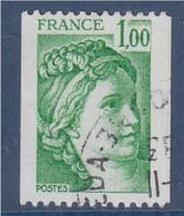 Sabine De Gandon Roulette 1.00 Vert Oblitéré N°1981A - Roulettes
