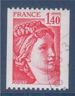 Sabine De Gandon 2104 Oblitéré Roulette 1.40 Rouge Et Numéro Au Verso 230 - Roulettes