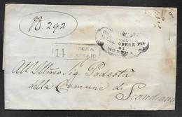 Italy - 1841 Wrapper - Modena To Scandiano - 1. ...-1850 Prephilately