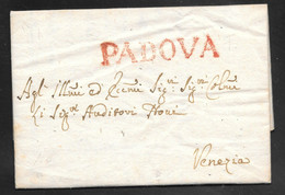 Italy - 1779 Entire Letter - Padova To Venezia - 1. ...-1850 Prephilately