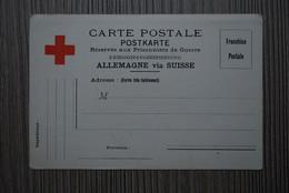 Guerre  1914-1918 - Carte Correspondance Prisonniers De Guerre  ALLEMAGNE Via SUISSE  - Croix Rouge - NEUVE +++ - Documents Historiques