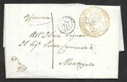 Italy - 1857 Entire Letter - Ascoli To Montegallo - Romagna