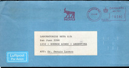 Danmark - 1986 - Lettre - Cachet Spécial - Affranchissement Mécanique - Novo - Envoyé En Argentina - A1RR2 - Cartas