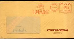 Finland - 1975 - Lettre - Cachet Spécial - Affranchissement Mécanique - Lucas - OY Elektro-Diesel AB - A1RR2 - Cartas