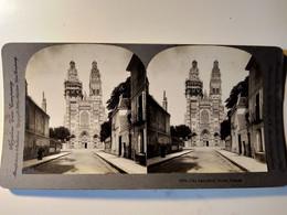 PHOTO STÉRÉO  La Cathédrale De Tours - 1906 - Keystone  TBE - Stereoscopio