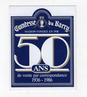 Fev21   90210    Auto Collant   Comtesse Du Barry  50 Ans - Autocollants